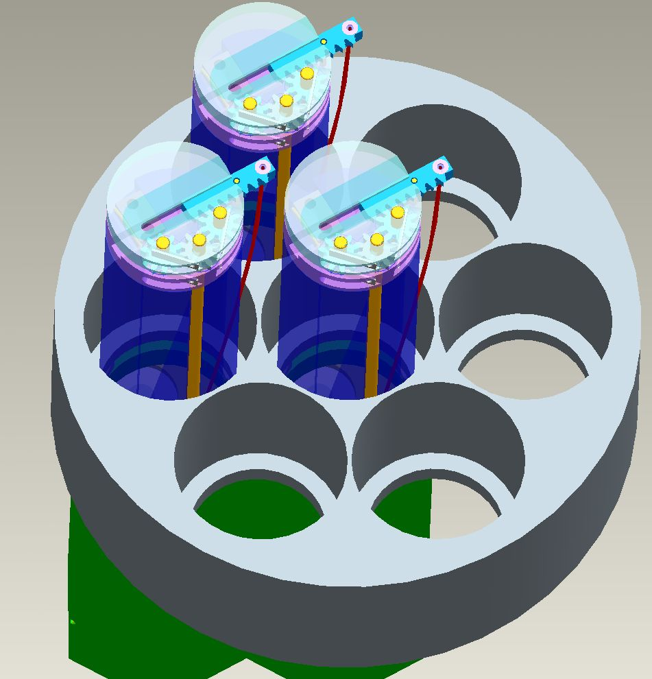 CAD model of fiber array actuator